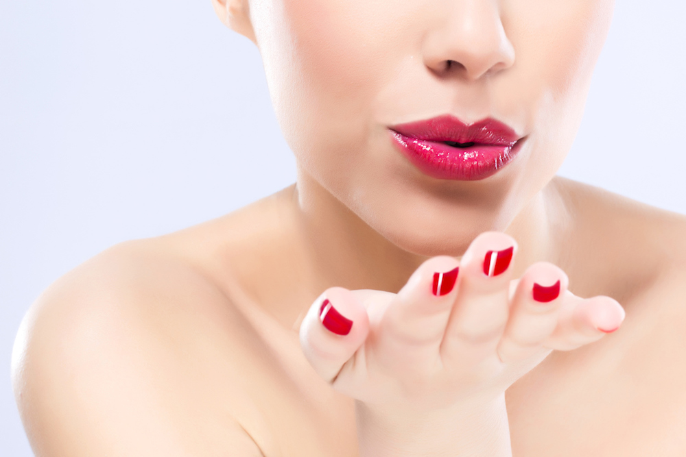 kissable lips with dermal fillers